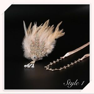 Accessories - 🌼Great Gatsby Daisy Wedding Feather Headband🌼